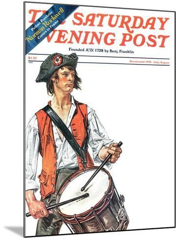 """""""Re-print of """"Colonial Drummer"""","""" Saturday Evening Post Cover, July/Aug 1976-Joseph Christian Leyendecker-Mounted Giclee Print"""