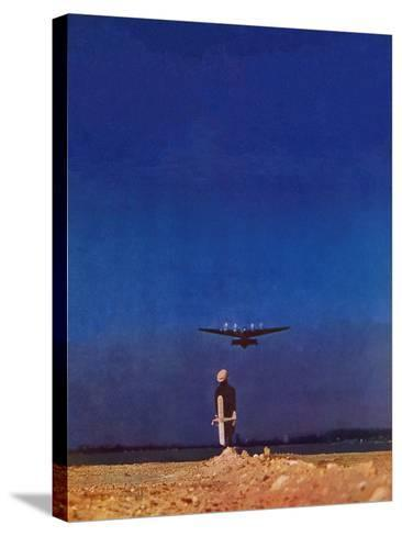 """Airplane Takeoff,"" April 6, 1940-Charles De Soria-Stretched Canvas Print"