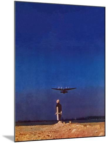 """Airplane Takeoff,"" April 6, 1940-Charles De Soria-Mounted Giclee Print"