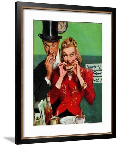 """Late Night Snack,"" March 22, 1941-John LaGatta-Framed Art Print"