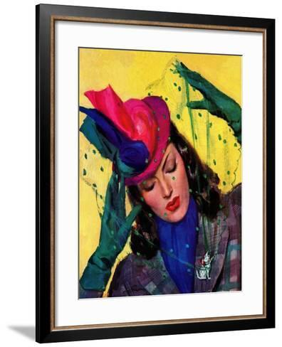 """""""Cat Pin,"""" October 11, 1941-John LaGatta-Framed Art Print"""