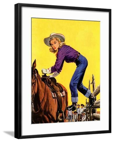 """Woman at Dude Rance,"" June 20, 1942-Fred Ludekens-Framed Art Print"