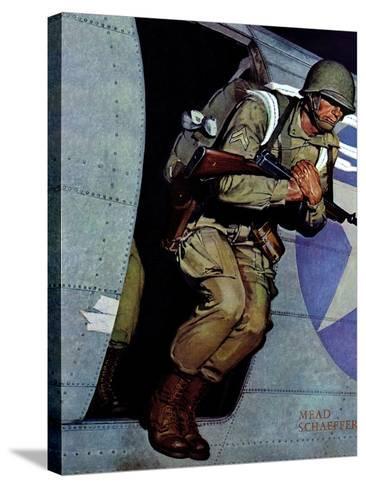 """Paratrooper,"" September 12, 1942-Mead Schaeffer-Stretched Canvas Print"