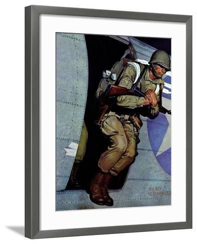 """Paratrooper,"" September 12, 1942-Mead Schaeffer-Framed Art Print"