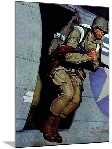 """Paratrooper,"" September 12, 1942-Mead Schaeffer-Mounted Giclee Print"