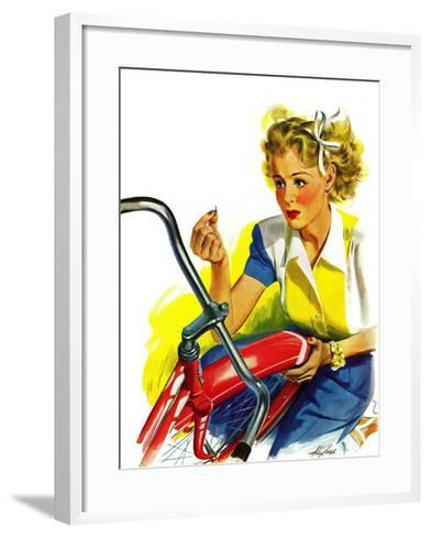 """Flat Bike Tire,"" July 24, 1943-Alex Ross-Framed Art Print"