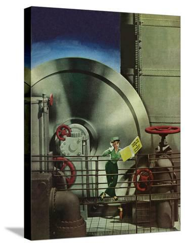 """How to Operate a Power Plant,"" October 2, 1943-Russell Patterson-Stretched Canvas Print"