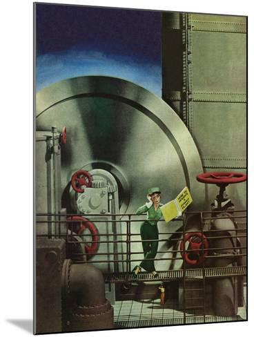"""How to Operate a Power Plant,"" October 2, 1943-Russell Patterson-Mounted Giclee Print"