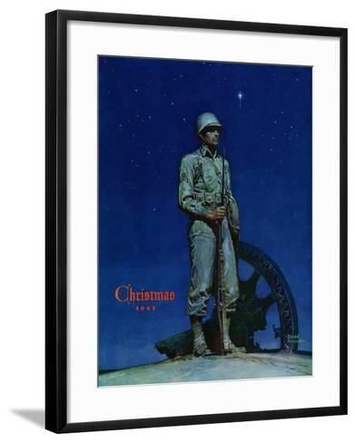 """Lone Soldier,"" December 25, 1943-Mead Schaeffer-Framed Art Print"