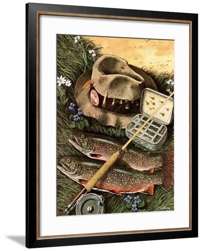 """Fishing Still Life,"" April 15, 1944-John Atherton-Framed Art Print"