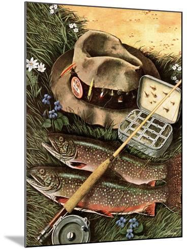 """Fishing Still Life,"" April 15, 1944-John Atherton-Mounted Giclee Print"
