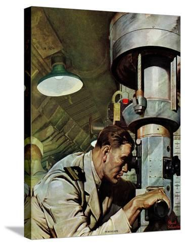 """""""Up Periscope!,"""" April 22, 1944-Mead Schaeffer-Stretched Canvas Print"""
