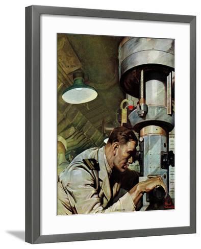 """""""Up Periscope!,"""" April 22, 1944-Mead Schaeffer-Framed Art Print"""