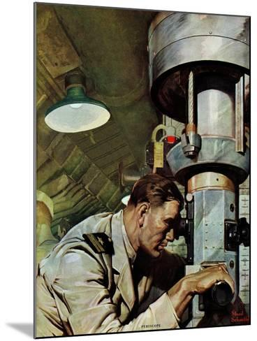 """""""Up Periscope!,"""" April 22, 1944-Mead Schaeffer-Mounted Giclee Print"""