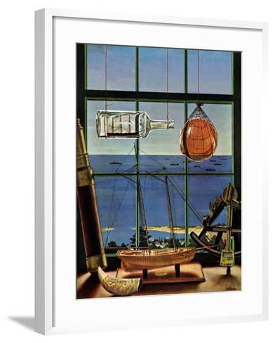 """Naval Convoy,"" August 26, 1944-John Atherton-Framed Art Print"