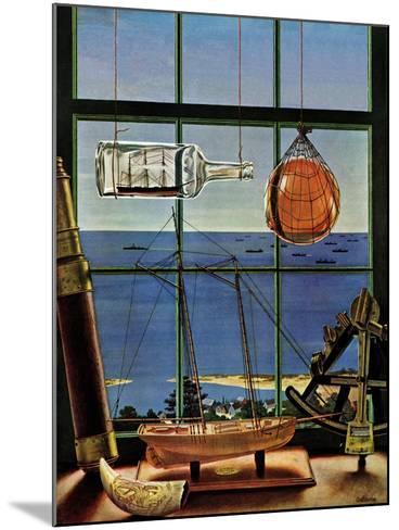 """Naval Convoy,"" August 26, 1944-John Atherton-Mounted Giclee Print"