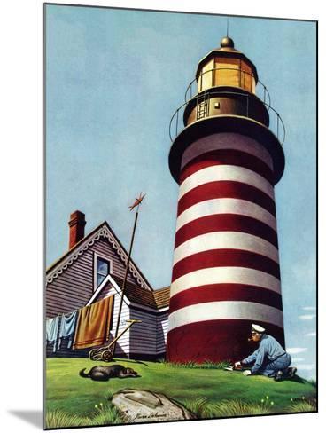 """""""Lighthouse Keeper,"""" September 22, 1945-Stevan Dohanos-Mounted Giclee Print"""