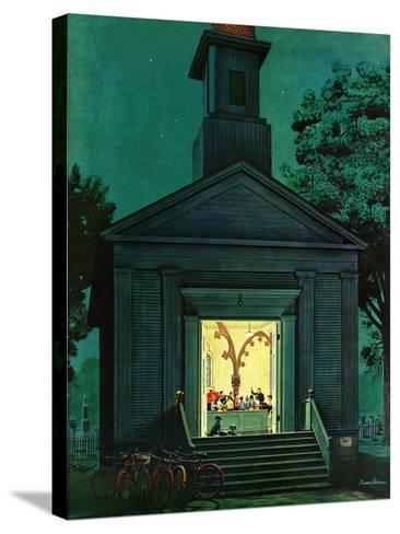"""Choir Practice,"" August 10, 1946-Stevan Dohanos-Stretched Canvas Print"