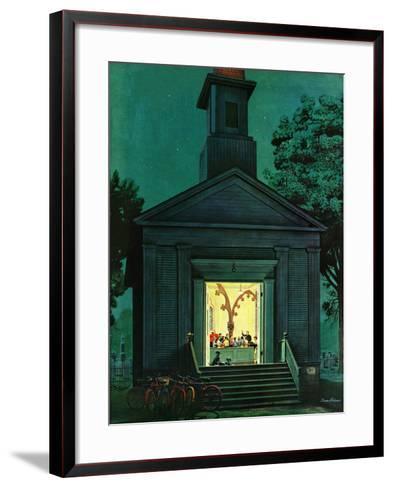"""Choir Practice,"" August 10, 1946-Stevan Dohanos-Framed Art Print"