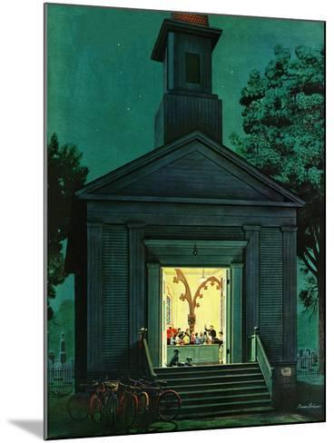 """Choir Practice,"" August 10, 1946-Stevan Dohanos-Mounted Giclee Print"