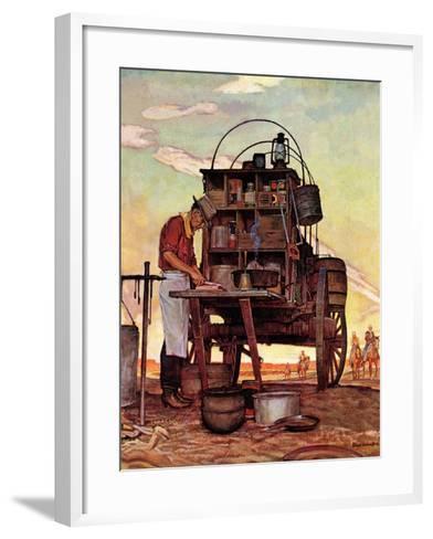 """""""Chuckwagon,"""" September 14, 1946-Mead Schaeffer-Framed Art Print"""