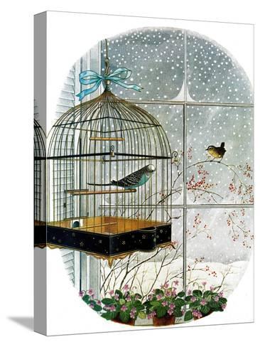 """Birdtalk,"" January 6, 1962-Gyo Fujikawa-Stretched Canvas Print"