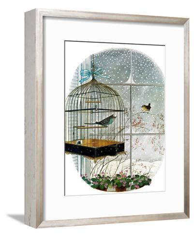 """Birdtalk,"" January 6, 1962-Gyo Fujikawa-Framed Art Print"