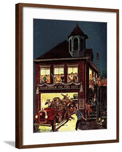 """Fireman's Ball,"" February 1, 1982-Ben Kimberly Prins-Framed Art Print"