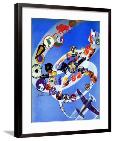 """Squadron Insignia,"" August 23, 1941-Ski Weld-Framed Art Print"
