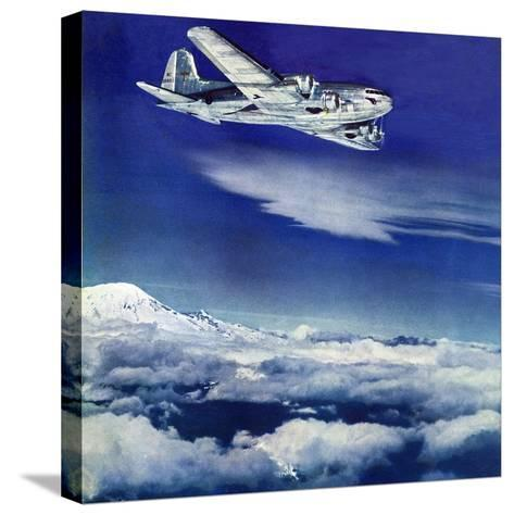 """""""Flight Above Clouds,"""" August 17, 1940-Clyde H^ Sunderland-Stretched Canvas Print"""