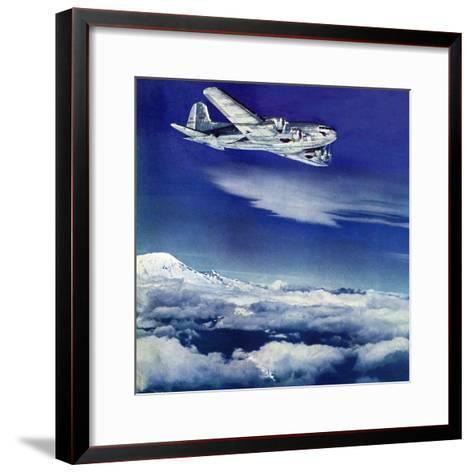 """Flight Above Clouds,"" August 17, 1940-Clyde H^ Sunderland-Framed Art Print"