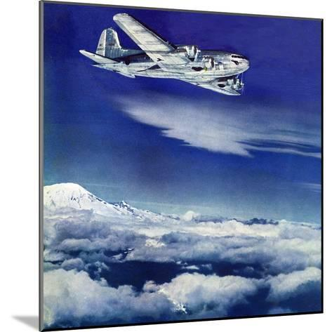 """""""Flight Above Clouds,"""" August 17, 1940-Clyde H^ Sunderland-Mounted Giclee Print"""
