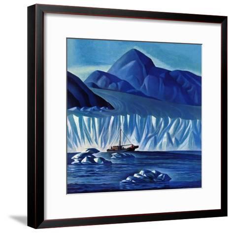 """Navigating Through Icebergs,"" July 19, 1941-Dale Nichols-Framed Art Print"