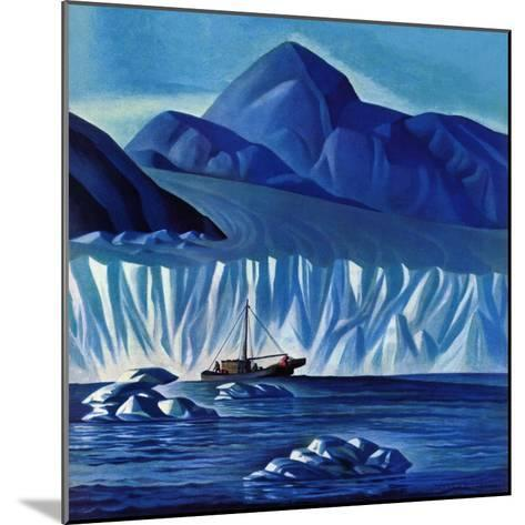 """Navigating Through Icebergs,"" July 19, 1941-Dale Nichols-Mounted Giclee Print"