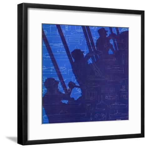 """Machinery of War,"" December 13, 1941-Harold Werneke-Framed Art Print"