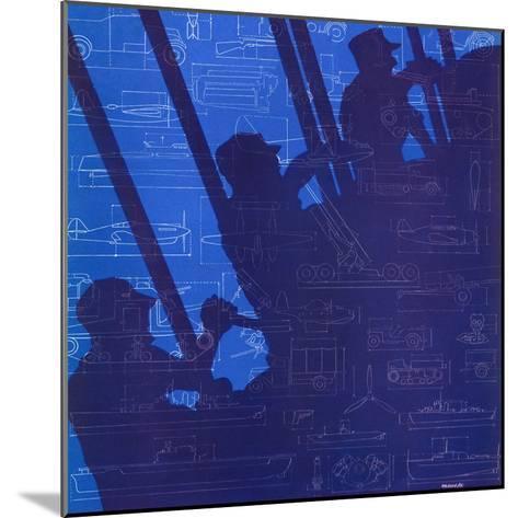 """""""Machinery of War,"""" December 13, 1941-Harold Werneke-Mounted Giclee Print"""