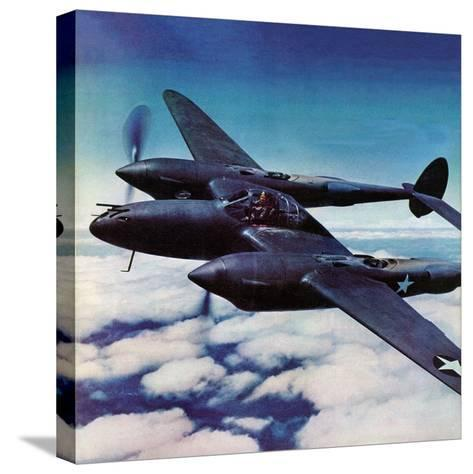"""""""Airborne Bomber,"""" August 29, 1942-Ivan Dmitri-Stretched Canvas Print"""