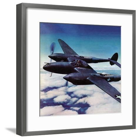 """""""Airborne Bomber,"""" August 29, 1942-Ivan Dmitri-Framed Art Print"""