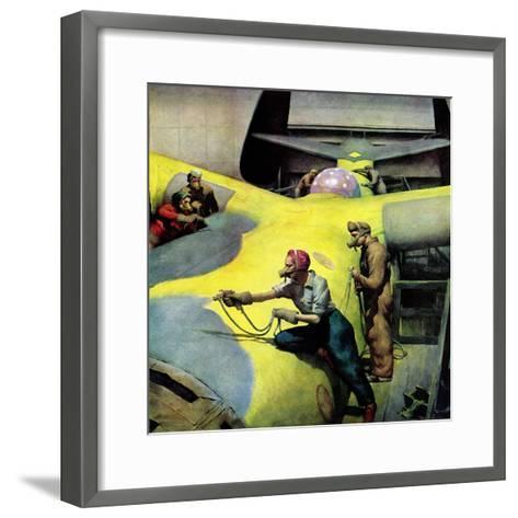 """Airplan Defense Factory,"" June 24, 1944-Robert Riggs-Framed Art Print"