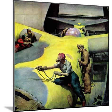 """Airplan Defense Factory,"" June 24, 1944-Robert Riggs-Mounted Giclee Print"