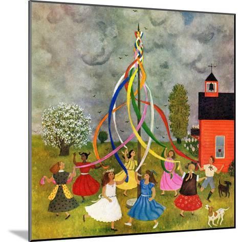"""Schoolyard Maypole Dance,"" May 4, 1946-Doris Lee-Mounted Giclee Print"