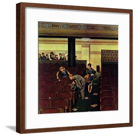 """Lost Shoe,"" December 14, 1946-Stevan Dohanos-Framed Art Print"