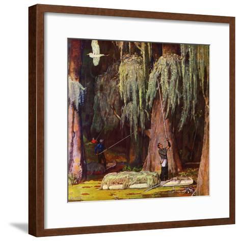 """Spanish Moss pickers,"" April 5, 1947-Mead Schaeffer-Framed Art Print"