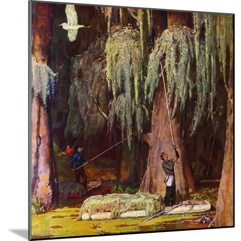 """""""Spanish Moss pickers,"""" April 5, 1947-Mead Schaeffer-Mounted Giclee Print"""