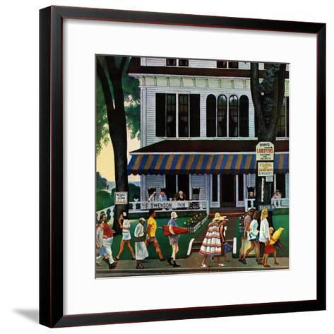 """""""Inn in Ogunquit,"""" August 2, 1947-John Falter-Framed Art Print"""