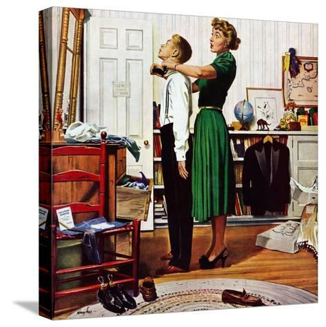 """Readying for First Date,"" October 16, 1948-George Hughes-Stretched Canvas Print"