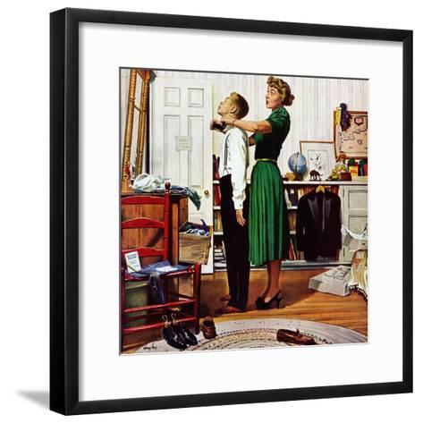 """Readying for First Date,"" October 16, 1948-George Hughes-Framed Art Print"