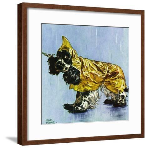 """""""Butch in Raingear,"""" April 2, 1949-Albert Staehle-Framed Art Print"""