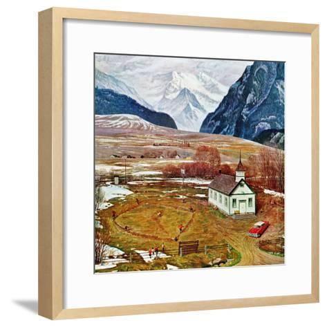 """Recess at Pine Creek,"" April 2, 1960-John Clymer-Framed Art Print"