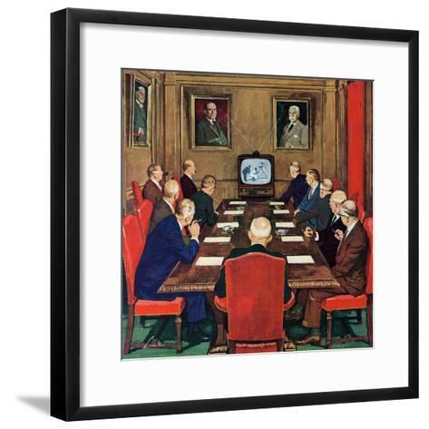"""Baseball in the Boardroom,"" October 8, 1960-Lonie Bee-Framed Art Print"
